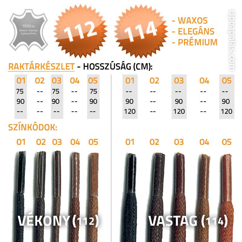 66552e7a50 Cipőfűzők készletről   10-féle típus, 50-féle szín, 45-től 250 cm-ig